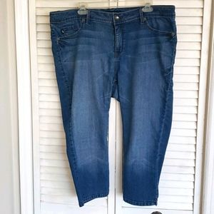 TORRID Source of Wisdom Cropped Jeans, Size 18